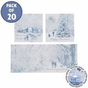20 Winter Scene Trio Cards