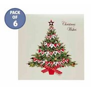 Pack Of 6 Oh' Christmas Tree Handma...