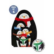Pack Of 6 Handmade Penguin Family C...