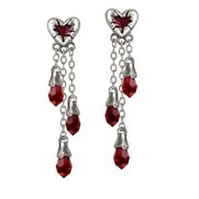 Bleeding Heart Drop Earrings