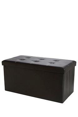 Double Ottoman With Button Stitched Lid