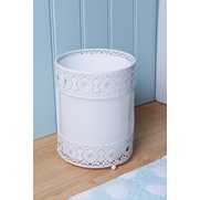 Metal Lace-Effect Waste Bin