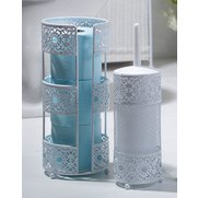 Metal Lace-Effect Toilet Roll Holde...