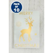 10 Cream & Gold Reindeer Gift Tags