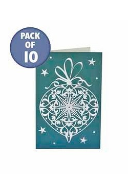 10 Teal Bauble Gift Tags
