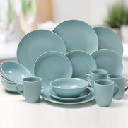 16-Piece Stoneware Matt Dinner Set