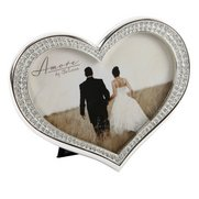 Amore Silver Plated Heart Shaped Frame