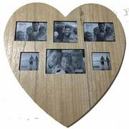 Multi Aperture Heart Photo Frame