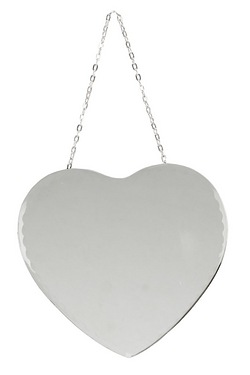 Hestia Heart Shaped Mirror With Chain
