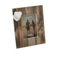 Distressed Wood Two Heart Frame