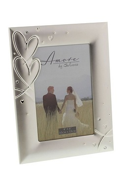 Amore Silver Plated Frame With Hear...