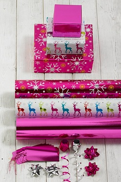 Brights Reindeer Trio Gift Wrap Set