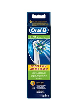 Oral B Cross Action Brush Heads - Pack of 4