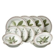 12-Piece New Bone China Herb Dinner...