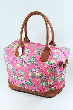 Floral Pink Travel Bag
