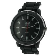 Gents Crosshatch Silicone Strap Watch