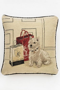 Westie Woven Tapestry Cushion Cover