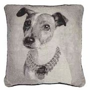 Jack Russel Woven Tapestry Cushion ...