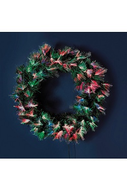 Fibre Optic Burst Wreath