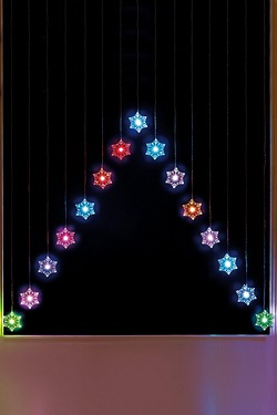 Colour Changing Snowflake Curtain