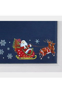 Window Border Santa And Sleigh Stic...
