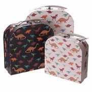 Dinosaurs Set Of 3 Decorative Cases