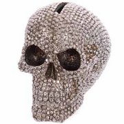 Jewelled Skull Money Box