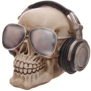Skull Money Box With Sunglasses & H...