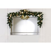 Gold Poinsettia Set Of 2 Swags