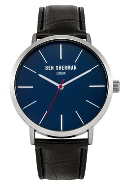 Ben Sherman Black Leather Strap Wat...