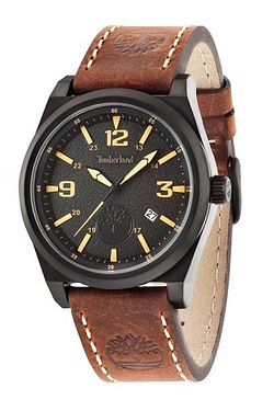 Timberland Brown Leather Strap Watc...