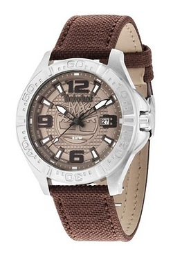 Timberland Brown Nylon Strap Watch ...