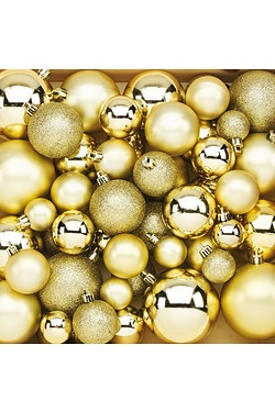 50pc Gold Bauble Pack