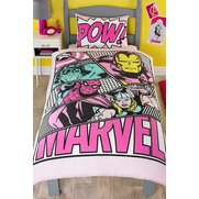 Marvel Comics Pastels Single Duvet Set