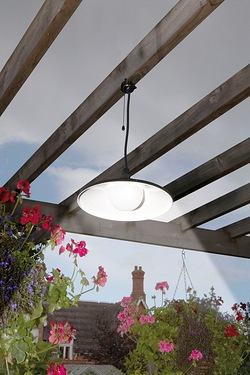 Powertek Solar Pendant Light with R...
