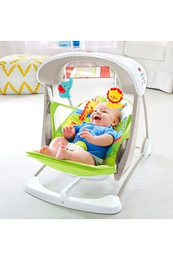 Fisher Price Rainforest Friends Take Along Swing & Seat