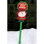 LED Santa Stop Stake Light