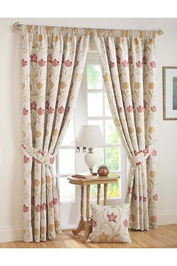 Canterbury Lined Pencil Pleat Curtains
