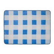 Nursery Print Gingham Blue Rug