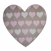 Nursery Print Heartfelt Brown Rug