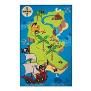 Kiddy Pirate Map Multi Rug