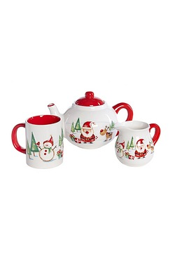 Santa And Friends Teapot Set