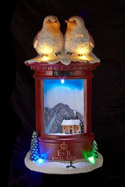 LED Post Box With Robins Christmas ...