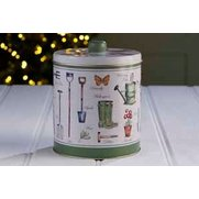 Embossed Garden Biscuit Barrel Single
