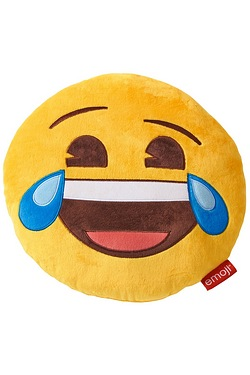 Emoji Laugh Round Cushion