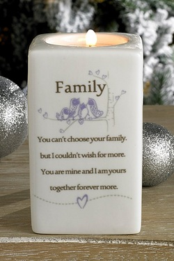 Family Said With Sentiment Tea Light Holder
