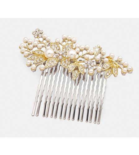 Image for Pearl Hair Grip - Gold from studio