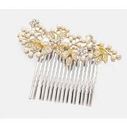 Pearl Hair Grip - Gold