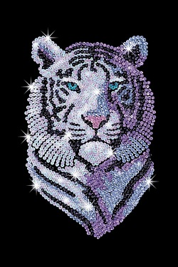 Sequin Art Snow Tiger