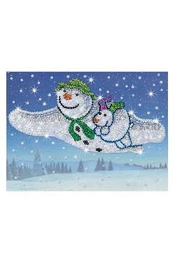 Sequin Art Snowman and Snowdog